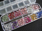 3600pcs 6 Style Nail Art rhinestones decoration for uv gel acrylic systems 1.5mm