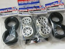 TAMIYA 1/10 RC CAR TIRE(51427)+WHEEL(50676)+INNER for M-Chassis Rally Block