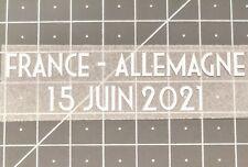 Patch détails match France - Allemagne 15 Juin 2021 - Euro 2020 Mbappe