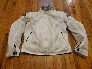 Joe Rocket Women's M White Mesh Padded W/ Dry Tech Liner Motorcycle Jacket