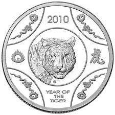 2010 Lunar Year of the Tiger  $1 Silver Proof Coin, Royal Australia Mint