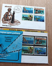 PNG 1981 - Traditional Fishing Methods -stamp pack + FDC