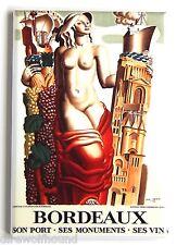 Bordeaux Wine FRIDGE MAGNET (2.5 x 3.5 inches) france alcohol poster grapes