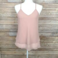 Lulus Womens Tank Top Pink Racer Back Strap Summer Casual Tank Size Small