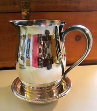 Paul Revere Reproduction Pitcher & FB Rogers Bowl  (1084) - Silverplate - EUC