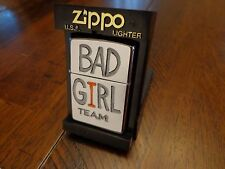 BAD GIRL TEAM PINUP HIGH POLISH CHROME ZIPPO LIGHTER MINT IN BOX 2000