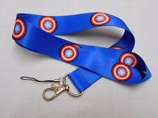 CAPITAN AMERICA MARVEL lanyard ID document badge holder neck strap blue