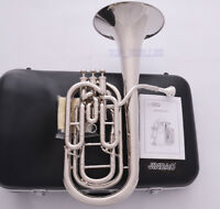 JINBAO Pro. Silver Nickel Compensating Baritone horn Bb key 3 Valves Hard Case