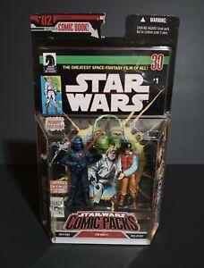 2007 Hasbro Star Wars Retro Vader and Rebel Trooper Comic Pack #1