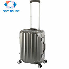 Travelhouse London 4-Rad Koffer S-55cm 47L Bordtrolley Bordkoffer Farbe Grau
