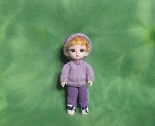 "6"" Bjd Doll Rooted Acrylic Short Hair Custom Knit Clothing Set * Collectibles"