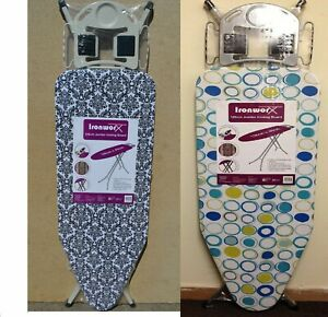 Ex Large Light Weight Steel Ironing Board Adjustable/DESIGN OR COLOUR MAY Variou
