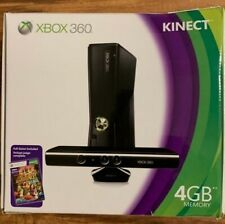 New listing Microsoft Xbox 360 with Kinect 4Gb Black Console + Controller + Free games