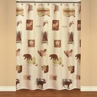 """Saturday Knight Ltd Natures Trail High Quality Shower Curtain - 70X72"""" Natural"""