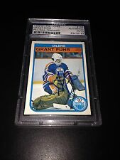 Grant Fuhr Signed 1982-83 OPC Rookie Card Edmonton Oilers PSA Slabbed #83476197