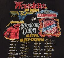 Vintage 1988's MONSTER OF ROCK Metal Van Halen Scorpions Concert Tour T Shirt.
