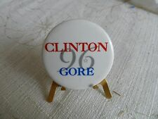 1996 BILL CLINTON & AL GORE  ORIGINAL POLITICAL CAMPAIGN PIN