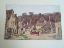 A R QUINTON Postcard 1583 CASTLE COMBE, WILTS.  Franked+Stamped 1932   A2338