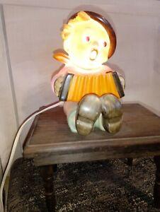 Rauchverzehrer Hummel / Göbel, Junge mit Ziehharmonika, original Kabel, TOP