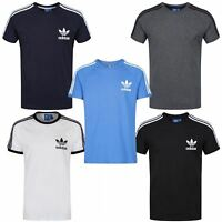 adidas ORIGINALS CALIFORNIA T SHIRT MEN'S CREW NECK TOP BLUE WHITE GREY NAVY