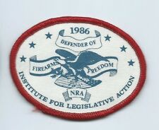 NRA 1986 defender of fireearms freedom IFLA patch -5/8 X 3-3/8 #1635
