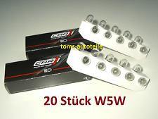 20 Stück CAR1® W5W Glühlampe Lampe Glassockel 12V 5W W2,1x9,5d