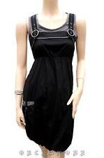 Tunique CACHE CACHE T 36 S 1 Robe noire Forme boule doublé été Tunic Dress TBE