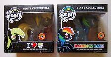 My Little Pony MLP Rainbow Dash + Derpy Set Funko POP 2013 Vinyl Toy SDCC /1008