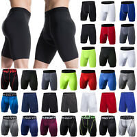 Mens Compression Base Layer Tight Pants Leggings Shorts Fitness Sport Activewear