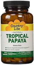 Country Life Papaya Chewable Tablet, 500 Count
