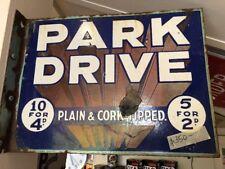 Park Drive Genuine Porcelain Post Mount Sign
