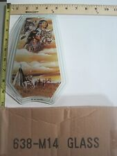 FREE US SHIP OK Touch Lamp Replacement Glass Panel Native American Wolf 638-M14