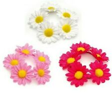 Daisy Hair Scrunchie Festival Flower Wrap For Dance Bridal Ballet Bun Bobble