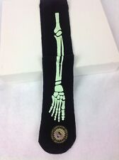 One Pair Of Girls Halloween Glow In The Dark Bones Legs Socks Dress Up Custume