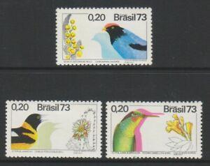 Brazil - 1973, Tropical Birds & Plants set - MNH - SG 1434/6