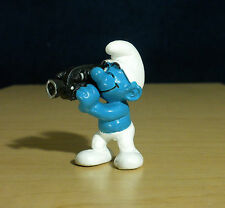 Smurfs Video Camera Smurf Cameraman Movie Camcorder Vintage Toy Figure PVC 20414