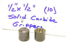 """10 NEW SURPLUS SOLID CARBIDE 1/2"""" CLAMPING GRIPPER INSERTS .500"""""""