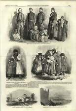 1855 Turkish Soldiers And Tartar Children Evpatoria Frozen Out Dock Labourers