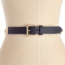 Nautica Women's Chain Accent Belt Navy/Gp Size Large New