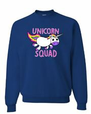 Unicorn Squad Sweatshirt Fantasy Rainbow Magical Cute Fairy Tale Sweater