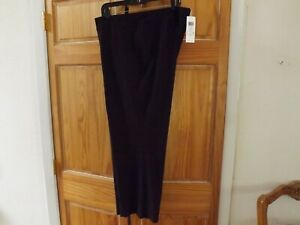 Eileen Fisher=NWT=Stretch Crepe Ankle Pants in Casis(Very Dark Purple)---size 2X