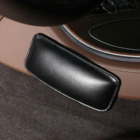 Universal Car Seat Cushion Pillow Knee Leg Thigh Support Black Leather Accessory