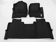 WeatherTech Floor Mats FloorLiner for Ford Super Duty Crew Cab - 2018 - Black