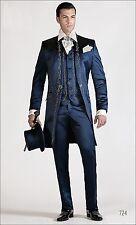 uomini abito da sposa in frac ricamo mattina code vestito del cappotto su misura