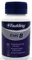 3 x Faulding Exec B (60 Tablets) ::Relieve Stress, Improve Memory