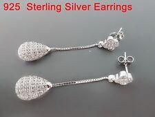 100% 925 Sterling silver earrings. Quality AAAAA grade CZ Micro-insert process30