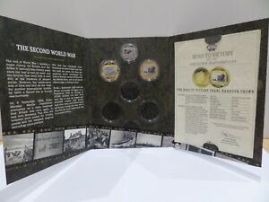 London Mint Commemorative 'The Road To Victory'1939-1945  WWII Crown Coins
