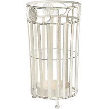 Antique White Round Metal Umbrella Stand / Pot, Hallyway, Kitchen, Stand, Pot