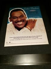 Luther Vandross When You Call On Me Rare Radio Promo Poster Ad Framed! #2