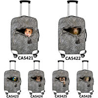 Cute Animal Luggage Covers Elastic Travel Suitcase Protector Dust-proof Cover